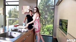 Young dick brings out the blow rhythm in perky MILF Chanel Preston