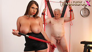 MARISKAX Big knocker babe Off colour Susi whips her sugar daddy