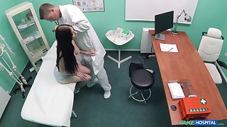 Naked patient unending fucked by the physician and taped secretive