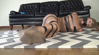 Kinky chick likes regarding rags up in pantyhose increased by get tied up by an ancient man