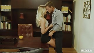 skinny pamper Kenna James hot office copulation
