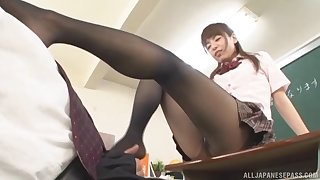 Tiro video of a lucky guy having sex with a freakish Asian tutor