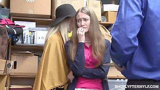 Mature woman added to her stepdaughter get punished for shoplifting