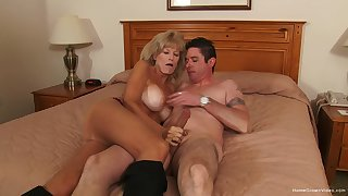 Mature gets her trotters on the tastiest locate she had in ages